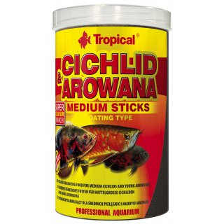 Tropical Cichlid & Arowana Medium Sticks 10 Liter