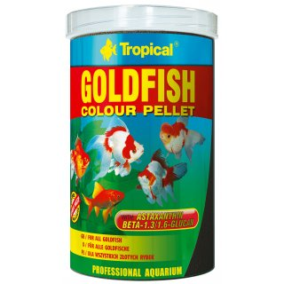 Tropical Goldfish Colour Pellet 1 Liter