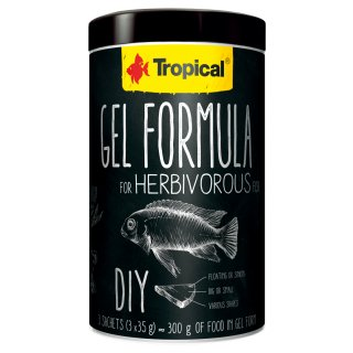 Tropical Gel Formula for Herbivorous Fish